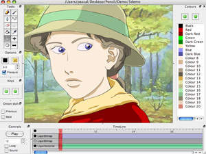 Pencil traditional animation software, Freeware, Windows, Macintosh, other