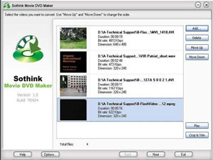 Sothink Movie DVD, Freeware, Windows